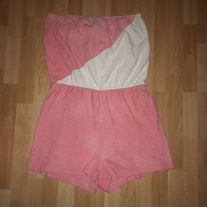 Plus Size Vintage Terry Cloth Romper